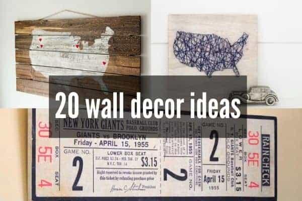 20 easy DIY wall decor ideas