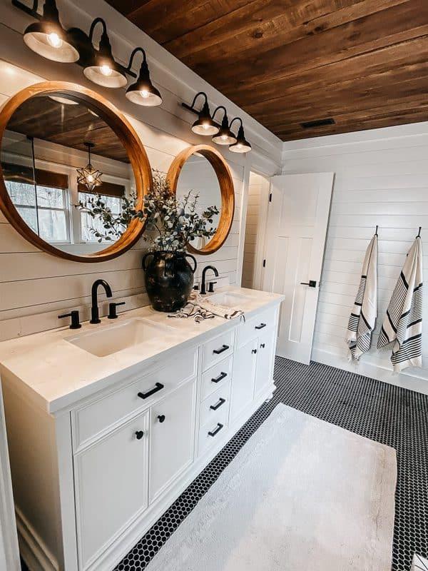 Shiplap Bathroom In A Modern Farmhouse Home Like You Mean It