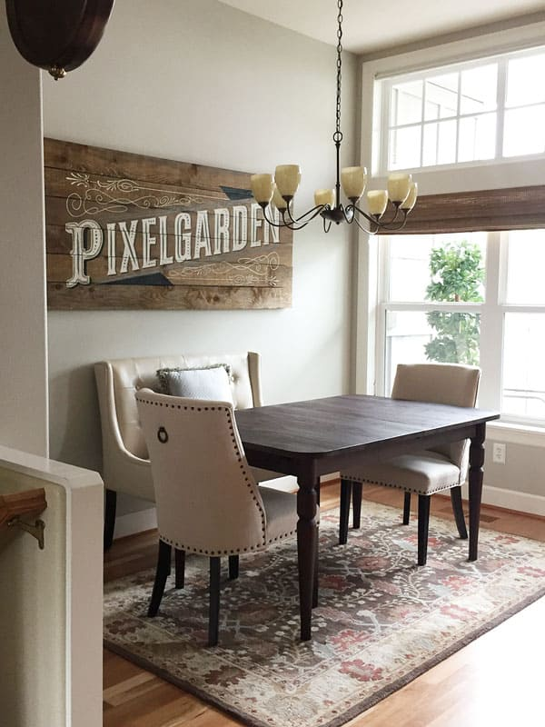 revere pewter in kitchen dining room