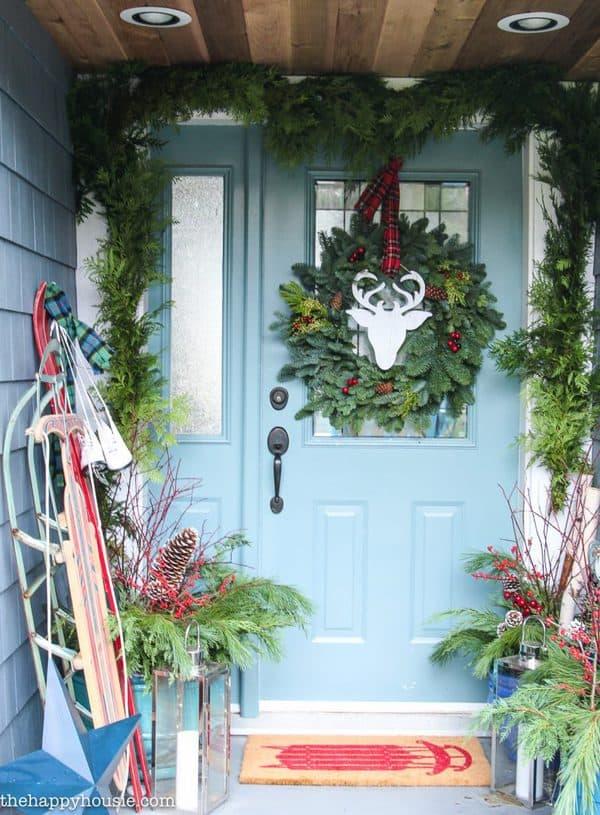 farmhouse christmas porch ideas