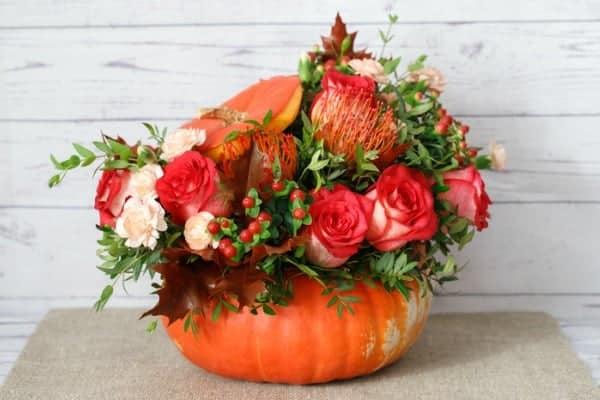 how long do pumpkin flower arrangements last?