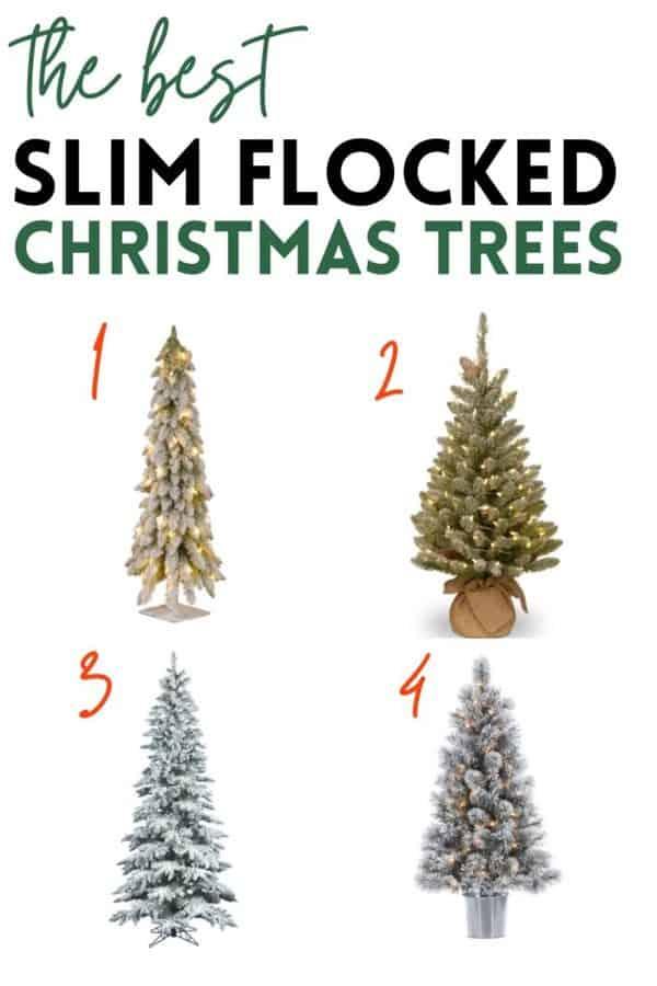 small flocked christmas trees