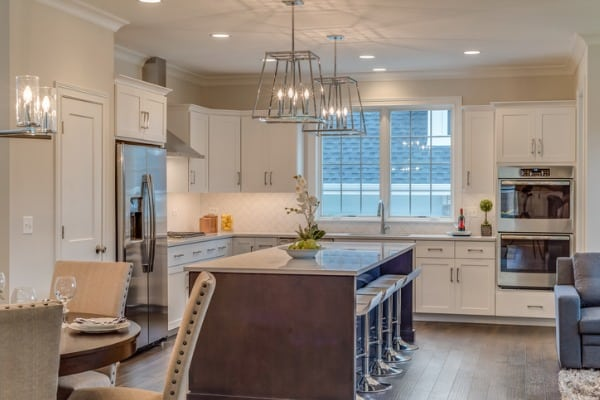 kitchen island clearance recommendations, distance between island and counter
