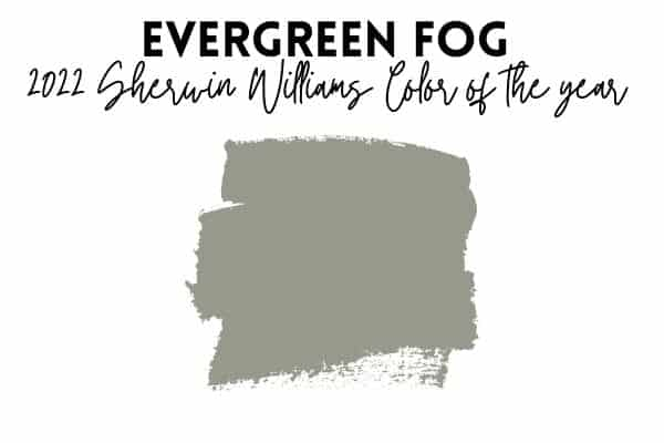 2022 sherwin williams paint color of the year evergreen fog